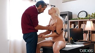 Blonde doll suits step daddy with the greatest fuck in his life