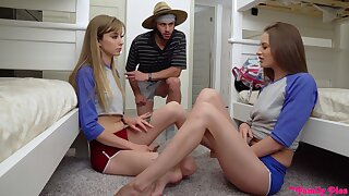 Kinky hostel girl Kyler Quinn is happy to share cock for fantastic threesome