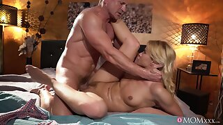 Deep drilling hardcore home sex with step daddy on top