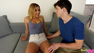 Horny dude and sexy Aubrey Sinclair fuck all over the house