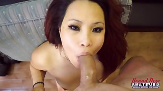 Amateur Kim Lee Blowing Cock casting POV