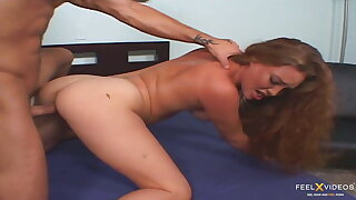 Ashley Grace with big boobs and ass squirts on a big cock