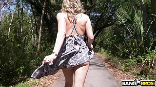 Blonde wife Cory Chase teases in public and gets fucked deep