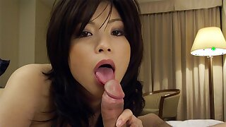 Japanese woman Kurumi Katase sucks dick, uncensored