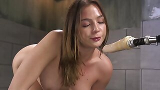 Fucking machine is a thing that helps girl receive anal pleasure