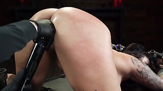 Helpless naked girl is forced to cum beyond count