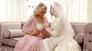 Bride enjoys the mature mother-in-law for a few rounds of lesbian XXX