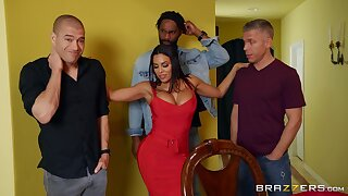 This Latina MILF is set for a triple dose of cock