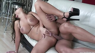 Quite a pleasure for the busty MILF to try anal in such scenes