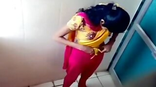 Indian coed girls get caught on tape using the university toilet