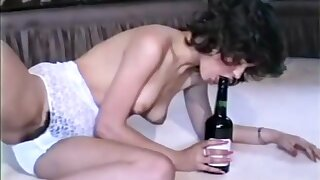 80s slutty chicks in hot retro lingerie are excitingly masturbating hairy pusses