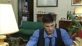 Maid surrounded by sex and get's carried away - Vintage Classic