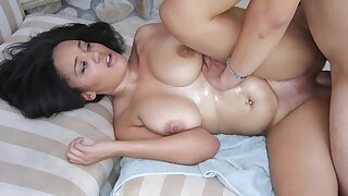 A busty slut with a huge behind that loves to fuck is getting rammed