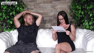 Casting sofa cock ride with an increment of blowjob from Wendy Moon