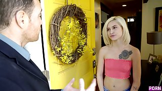 Nice nextdoor blonde Kiara Cole is impaled on a pretentiously thick detect in hot POV blear