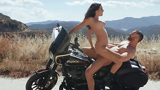 Bike ride overage with a good fuck for Ashley Adams