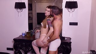 Misha Cross enjoys pussy eating before her friend fucks her badly
