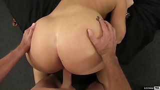 AJ Applegate owns her man's cock when she's on top and her bubble butt is sexy
